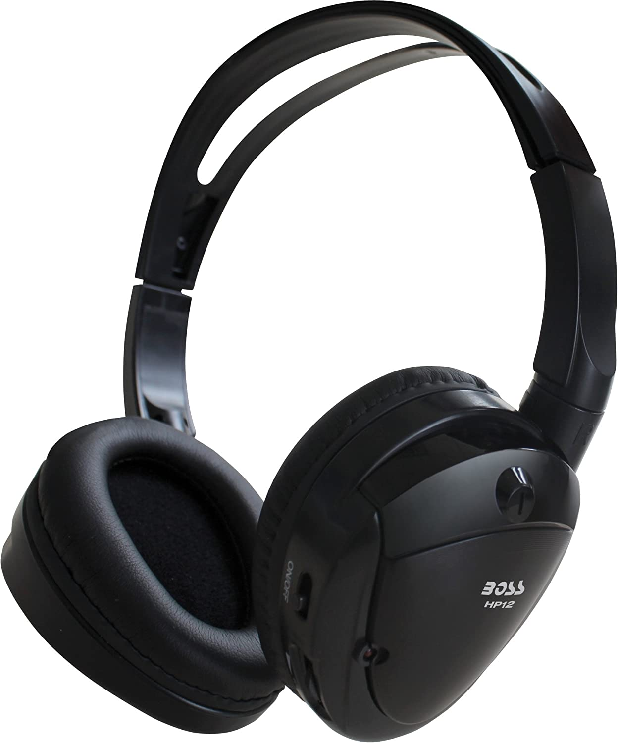 BOSS AUDIO HP12 / Infrared Foldable Cordless Headphone /Stereo - Wireless - Infrared - 30 Hz 20 kHz - 60 dB SNR - Over-the-head - Binaural - Ear-cup