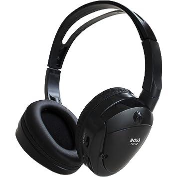 Boss Audio HP-12 HP12 - Auriculares inalámbricos inalámbricos por Infrarrojos (inalámbricos, 30
