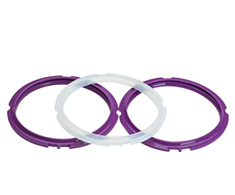 Purple and Clear Replacements. Silicone Sealing Rings for Instant Pot 3 Quart