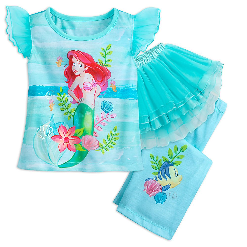 Disney Ariel Deluxe Tutu Sleep Set For Girls