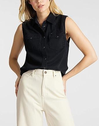 Lee Sleeveless Shirt Camisa para Mujer: Amazon.es: Ropa y accesorios