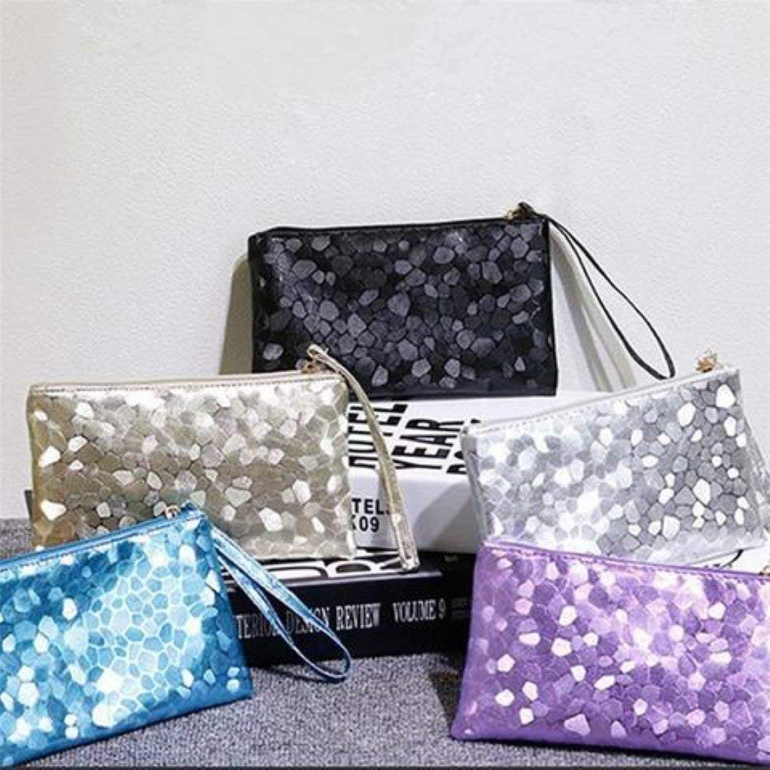 Women Evening Party Clutch Bag Makeup Sequins Sparkling