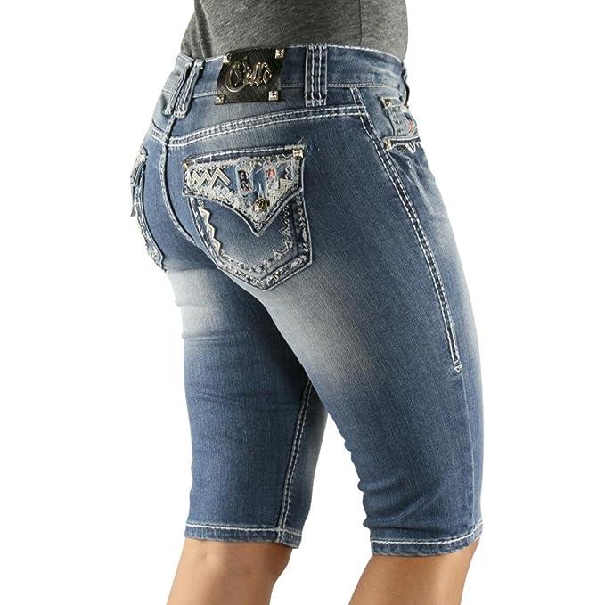 Amazon.com: Cello Jeans Bermuda - Pantalones vaqueros para ...