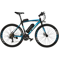 LANKELEISI Vélo électrique de RS600 700C, Batterie de 36V 20Ah, Frein à Disque des Deux, Cadre en Alliage d'aluminium, Endurance jusqu'à 70km, 20-35km / h, vélo de Route.