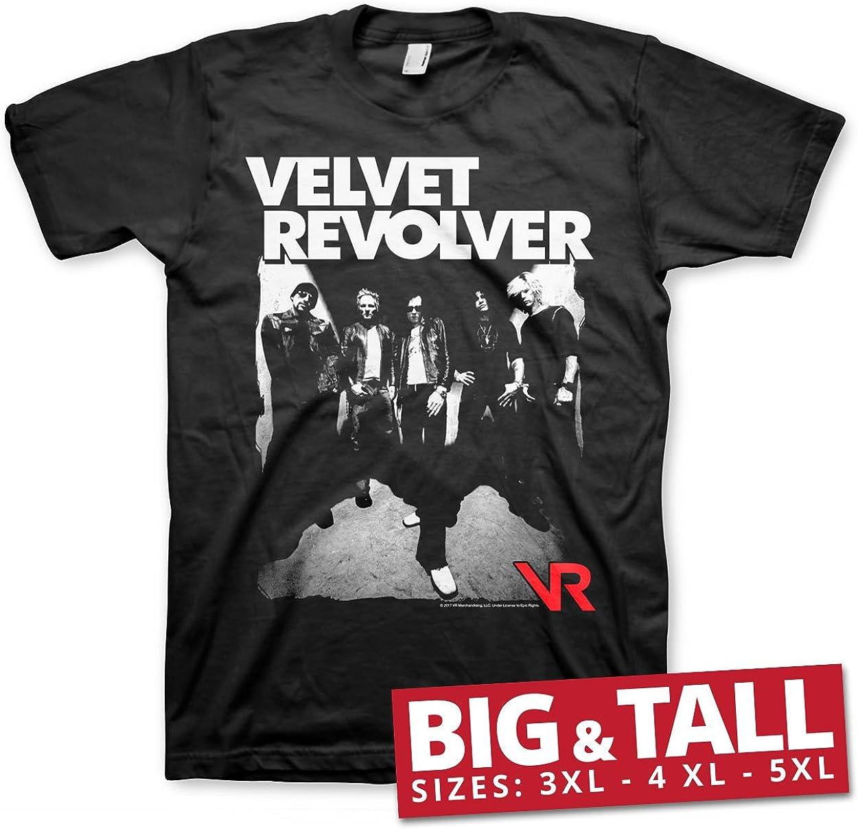 Velvet Revolver Oficialmente Licenciado Big & Tall 3XL, 4XL, 5XL Camiseta para Hombre (Negro): Amazon.es: Ropa y accesorios