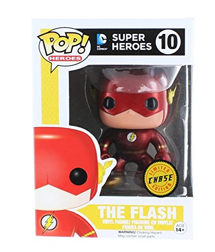 9a9677474fc Amazon.com  Funko DC Comics The Flash Pop Vinyl Figure Chase  Toys   Games