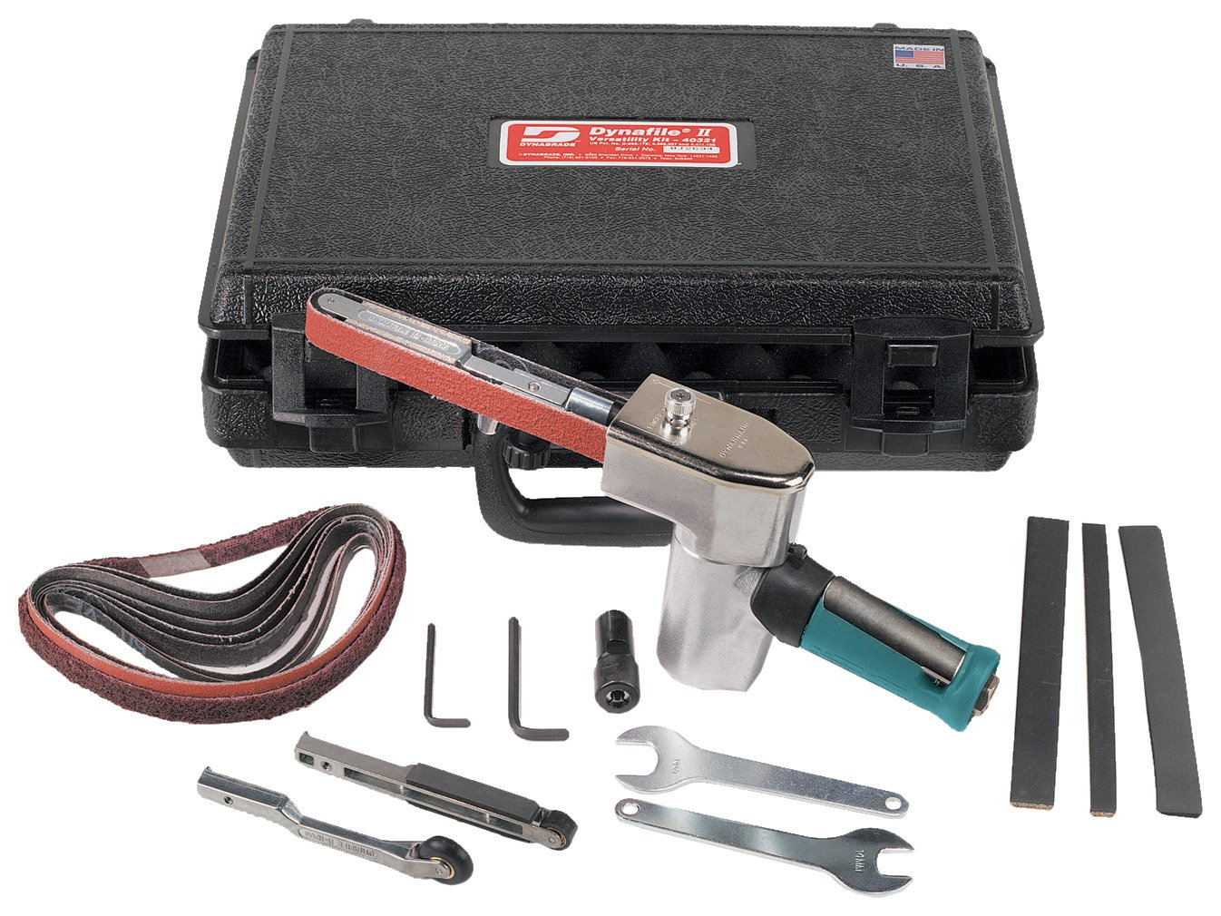Dynabrade 40321 Dynafile II Abrasive Belt Tool Versatility Kit, For 1/4-Inch - 3/4-Inch Width x 18-Inch Length Belts