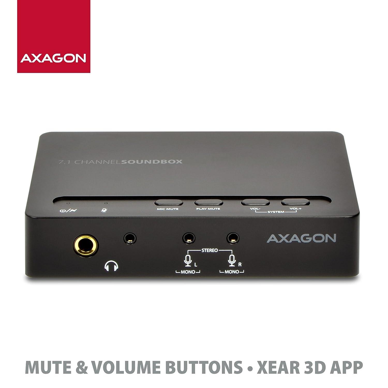axagon Ada de 71 USB 7.1 Sound Box External Tarjeta de ...