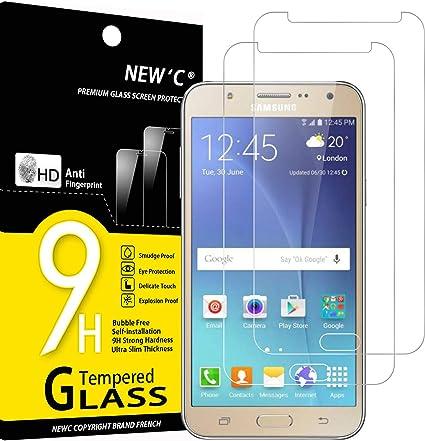 New C 2 Stück Schutzfolie Kompatibel Mit Samsung Galaxy J7 2015 Panzerglasfolie Frei Von Kratzern 9h Härte Hd Displayschutzfolie 0 33mm Ultra Klar Ultrabeständig Elektronik