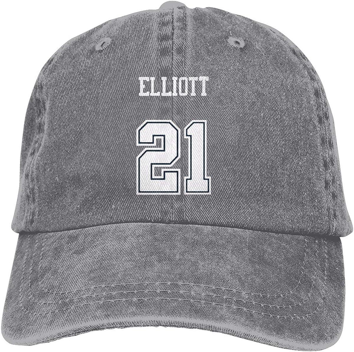 Unisex Football Ezekiel Elliott Snapback Baseball Cap Flat Brim Hip Hop Hat Adjustable Dad Hat