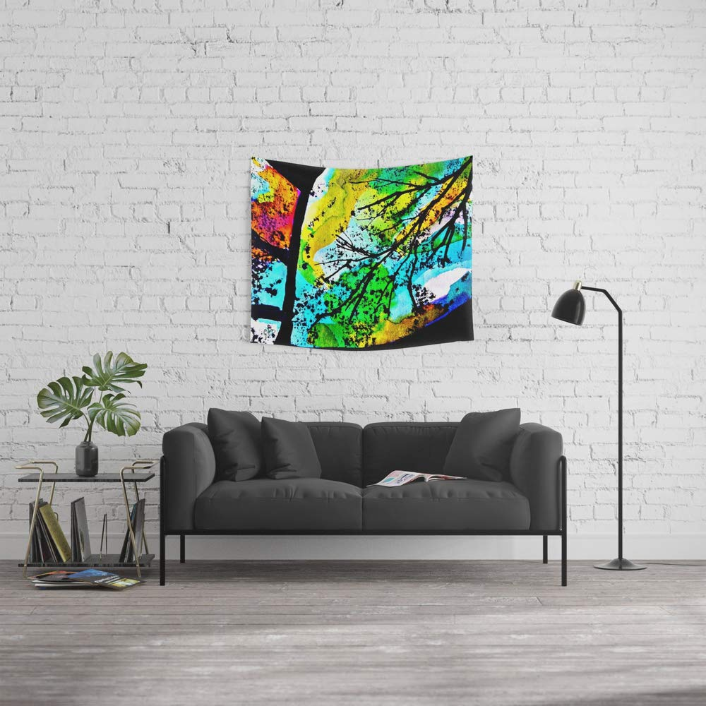 Society6 Wall Tapestry, Size Small: 51'' x 60'', Between The Song of The Birds and The Leaves That Dance by gbsart