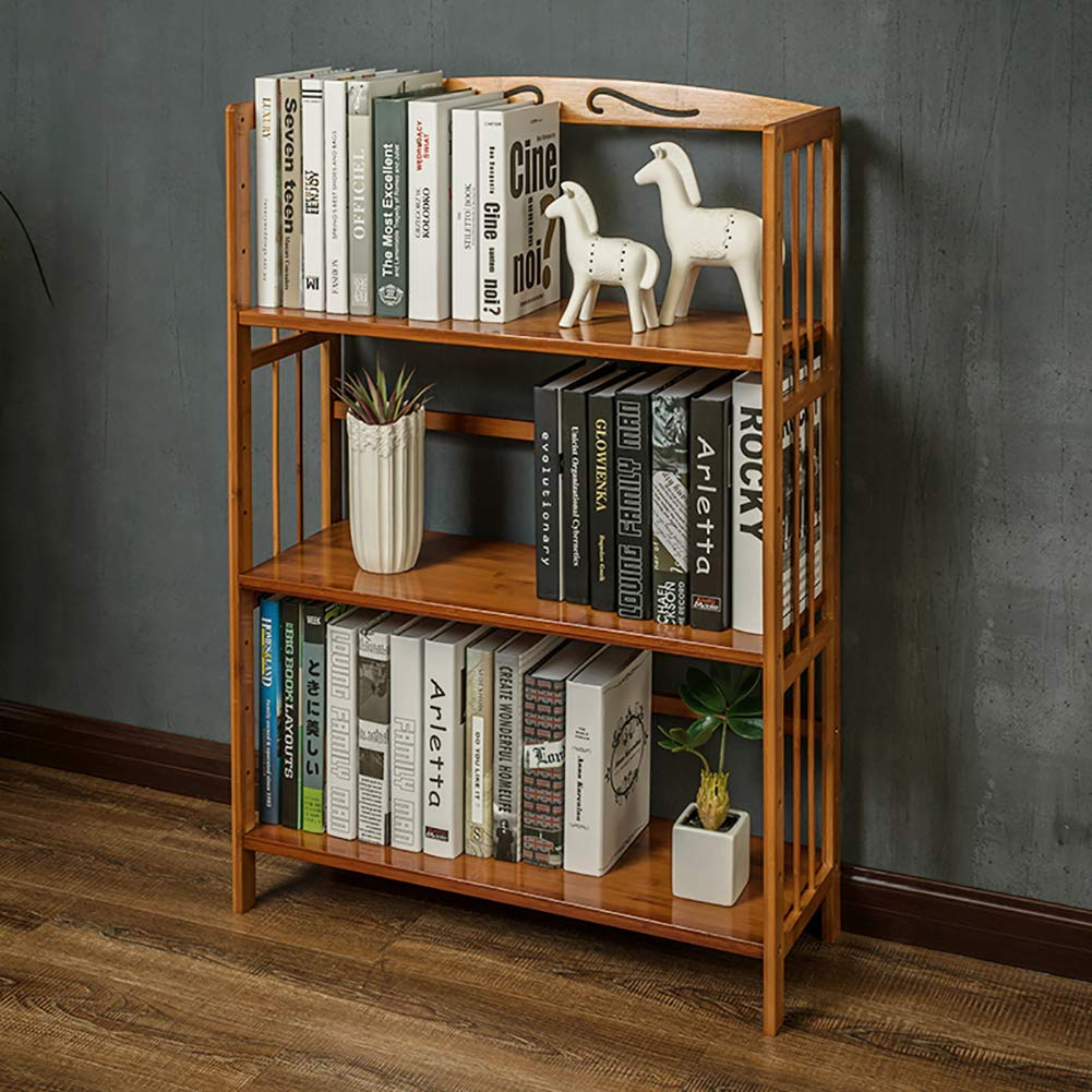 DULPLAY Simple Wooden Multi-layer Bookshelf, Open shelf Storage organizer Floor-standing Tree shaped Multipurpose For home or office -A 98x50x25cm(39x20x10)