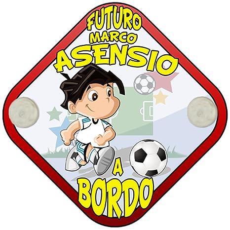 Placa bebé a bordo futuro Marco Asensio a bordo Madrid ...