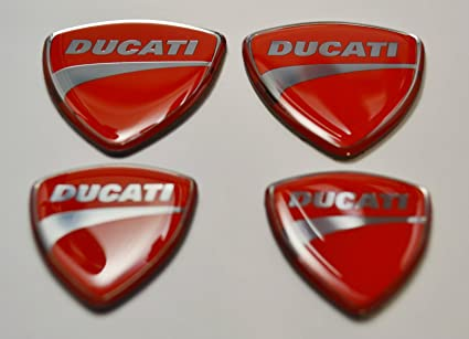 Amazon Com Ducati Stickers For Helmet Tank Chrome Red Decals 4