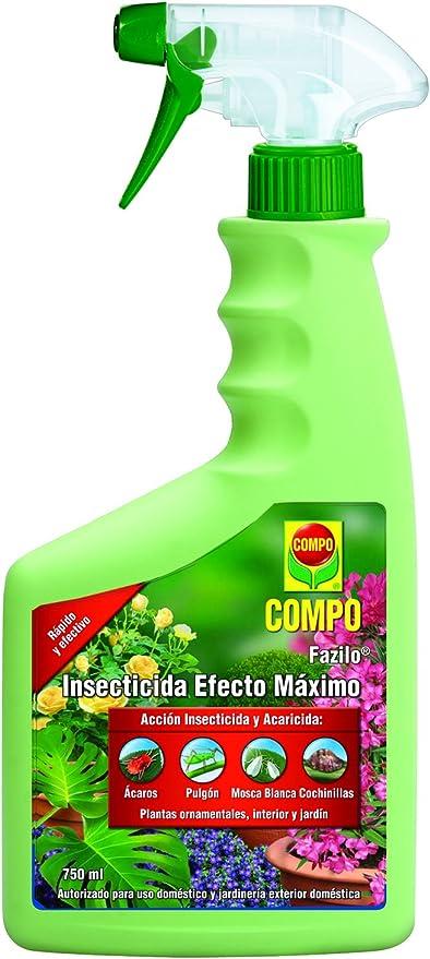 Compo Fazilo Efecto Óptimo, Acción insecticida y acaricida, Plantas Ornamentales, de Interior y jardín, Envase pulverizador, 26x11x5 cm: Amazon.es: Jardín