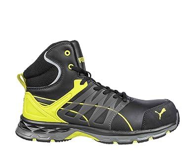 detailed look 26505 4ac77 Puma Baskets de sécurité Hautes Velocity 2.0 Yellow Mid S3 ESD HRO SRC   Amazon.fr  Chaussures et Sacs