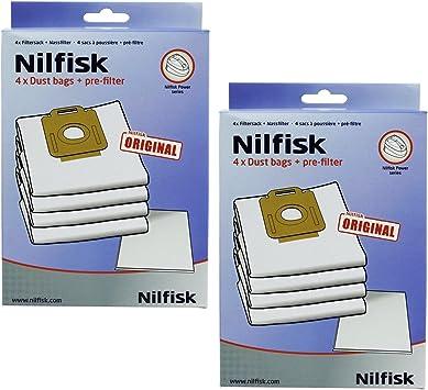 Potencia mtxtec Nilfisk P10 P20 P40 alergia PW10 PW20 + filtro de bolsas de tela para aspiradoras (2 x paquetes): Amazon.es: Salud y cuidado personal
