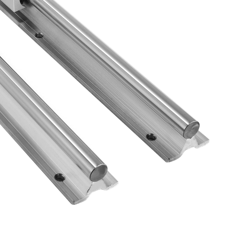 Frantools SBR16-1000mm Linearf/ührung Linear 4 Blocks Linear-Schiene CNC-Set Lagerblock