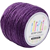 Pandahall 1 Roll(100m, about 100 Yards) Purple Colored Jute twine Jute String for Jewelry Making Craft Project, 2mm
