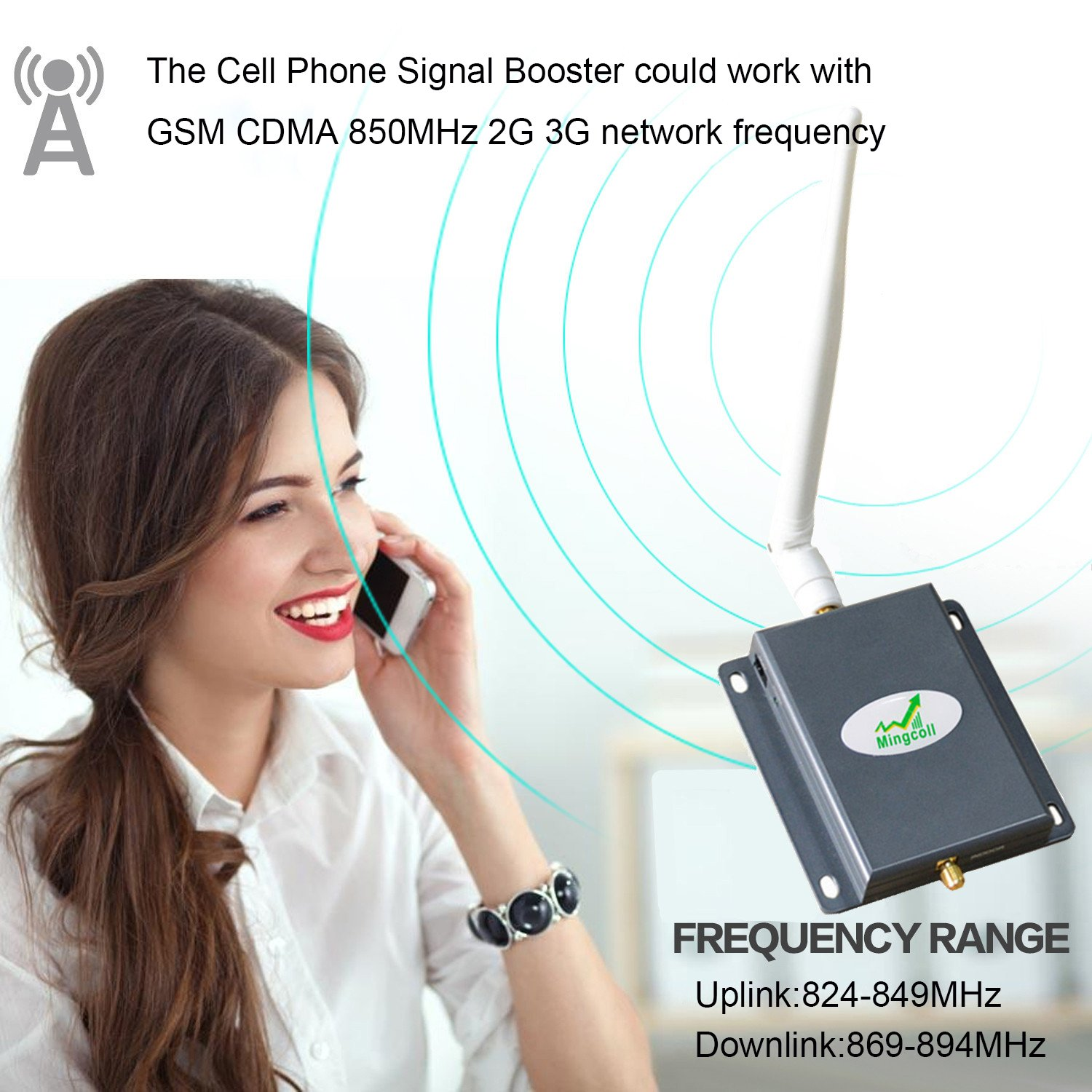 Amazon.com: Cell Signal Booster Repeater Mingcoll ATT 2G 3G Cell Phone Signal Booster 850MHz Band 5 Mobile Signal Repeater Amplifier with Outdoor Yagi ...