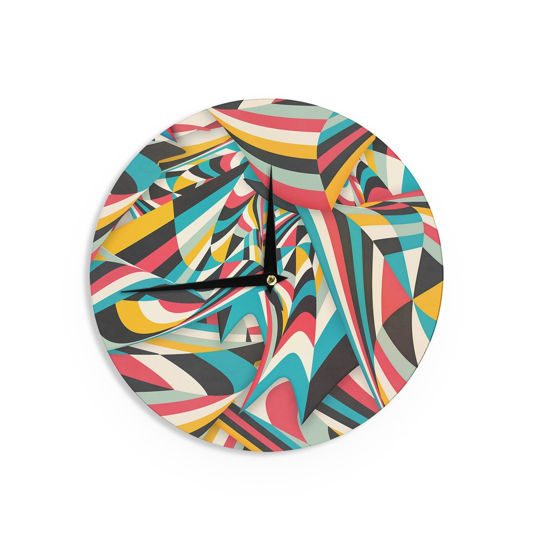 Kess InHouse Danny Ivan Dont Come Close Abstract Blue Wall Clock 12 Diameter