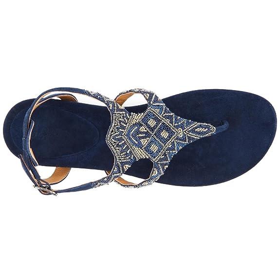 11680b6bc9ceb9 Ladies Jones Bootmaker Hadley Navy Suede Flat Sandals Size 8  Amazon.co.uk   Shoes   Bags