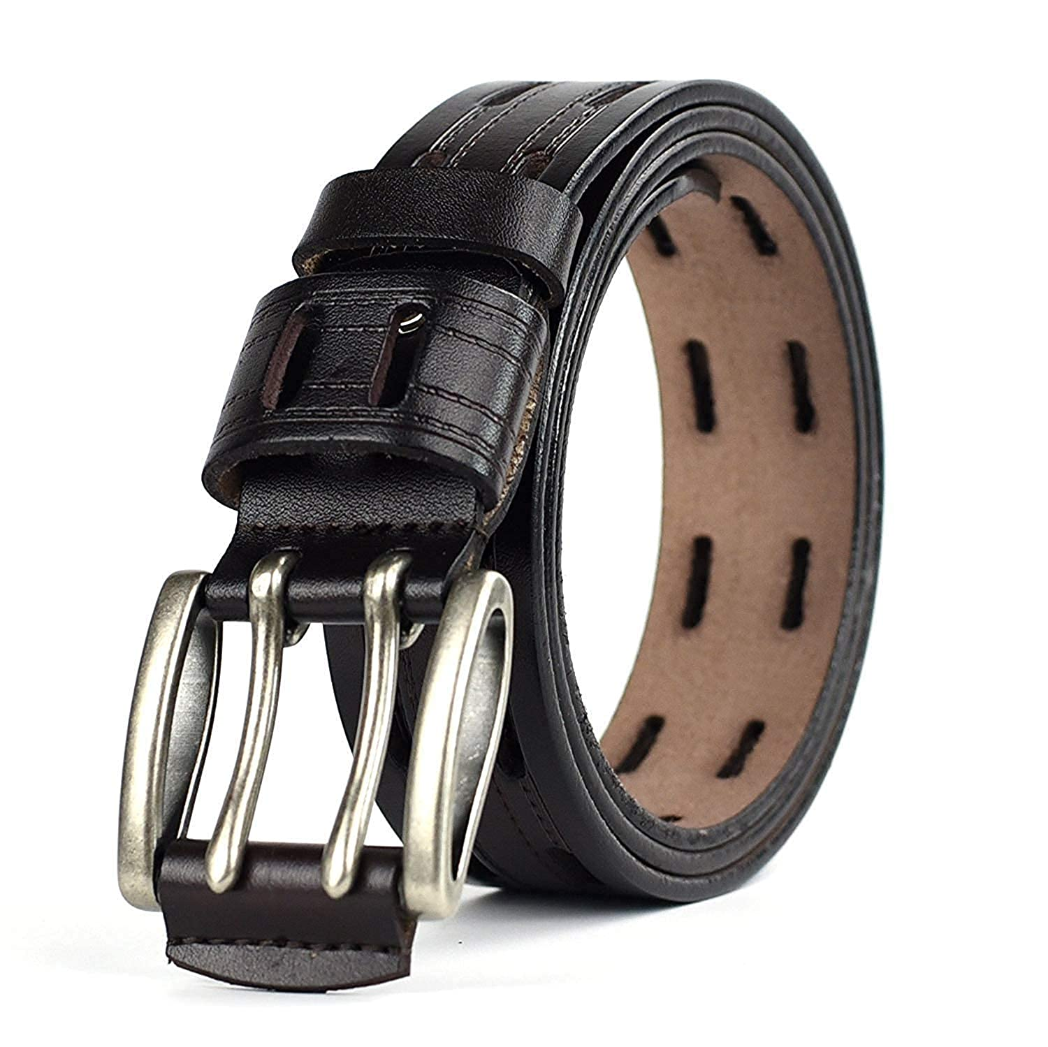 LVLUOYE Mens belt Pin Buckle Leather Leisure Jeans Waist