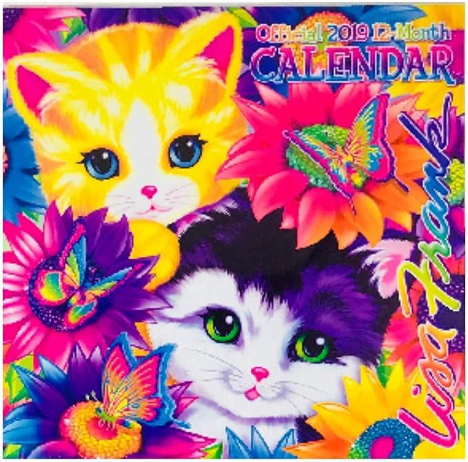 """Lisa Frank Official 2020 Wall Calendar 12 Month 10/"""" x 20/"""""""