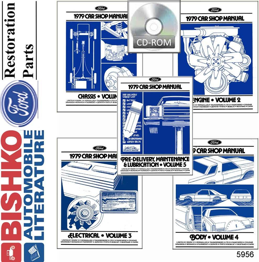 Bishko Automotive Literature 1979 Ford Lincoln Mercury Fig 2 Wiring Diagram Mustang And Capri Shop Service Repair Manual Cd Engine Drivetrain