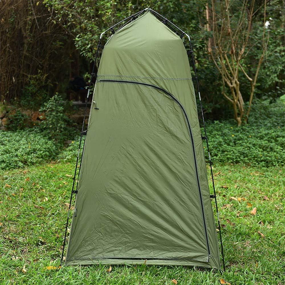 Aderezo Exterior Cuenta baño Ducha Tienda Camping Solo Verde