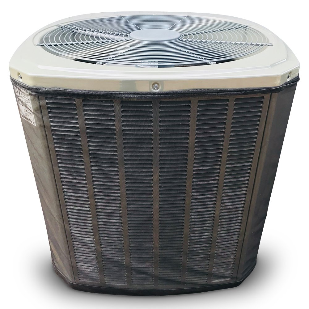 Custom All Season Mesh Air Conditioner Cover or Heat Pump Cover - for Your Exact Make and Model- Protection from Leaves, Debris, Cottonwood, Grass Clippings and More.3-Year Warranty Black by A/C Covers, Inc.