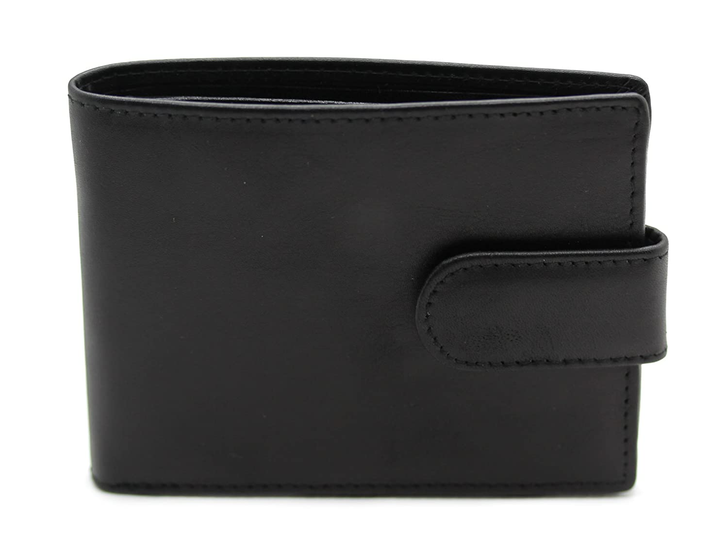 bcc0d9eef381 Smith   Canova Mens Leather Card Wallet  84092  - Black  Amazon.co.uk   Clothing