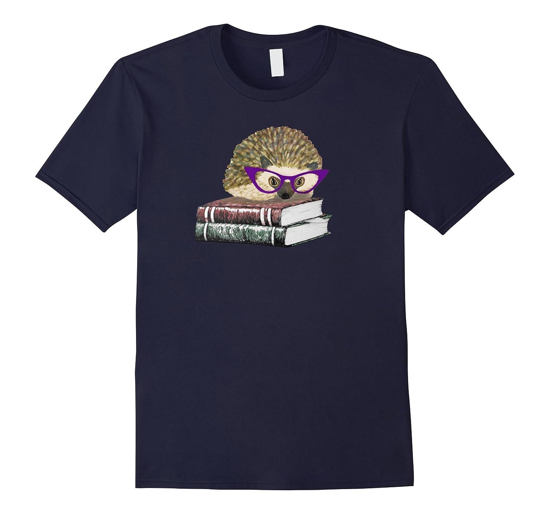 Adorable Hedgehog Book Nerd Tee Shirt-T-Shirt