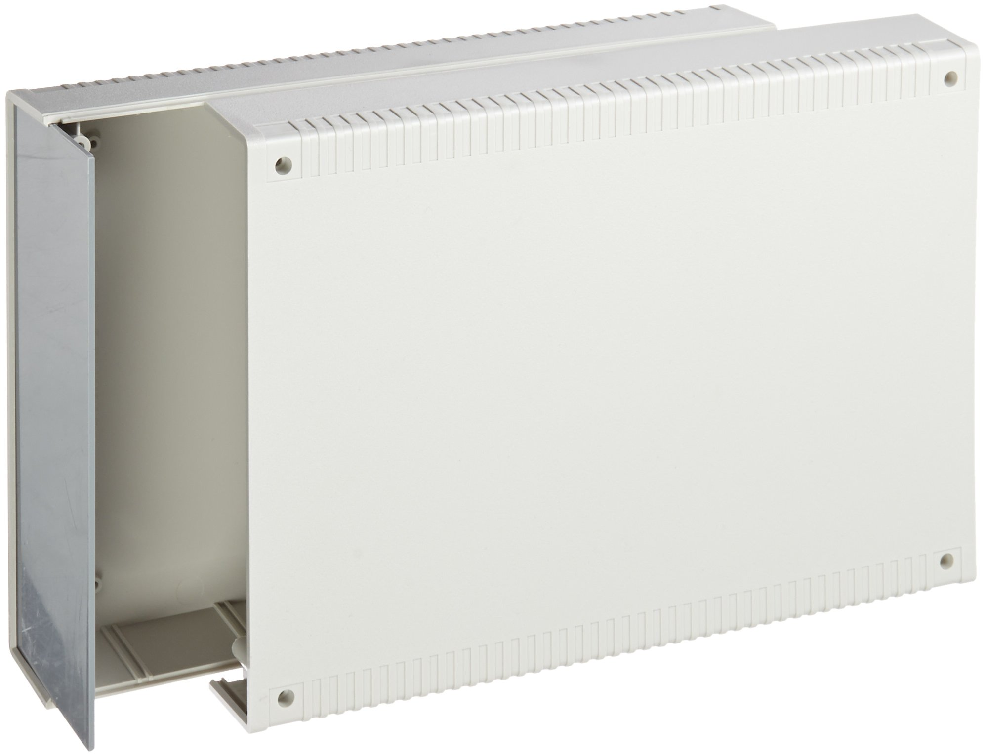 BUD Industries PC-11471 Plastic Style E Box, 7-55/64'' Width x 3-9/64'' Height x 11-1/64'' Depth, Gray Finish