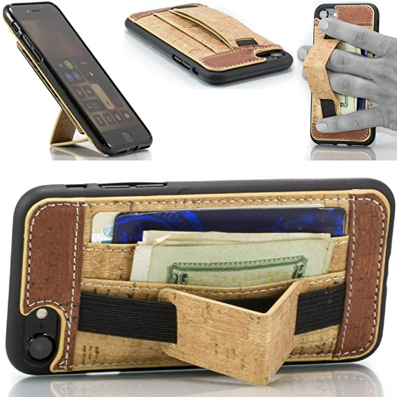 wholesale dealer e5d1b 00659 Loopy Case Wallet and Stand: iPhone 7 & 8 with Handle. 3-in-1 Leather  Wallet Case by FTA (4.7 Inch Screen) (Cork Brown)