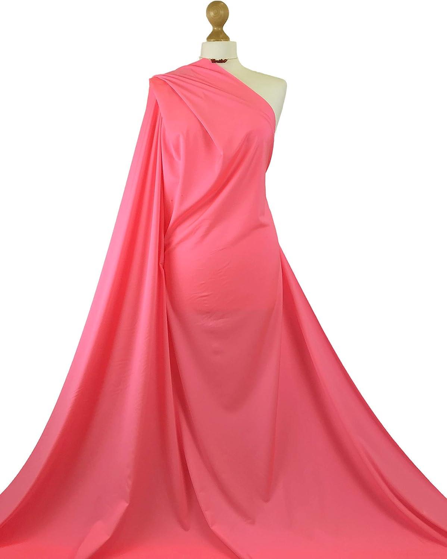 Premium Quality Baby Pink Shiny Lycra 4 Way Stretch Dancewear Fabric Spandex Material