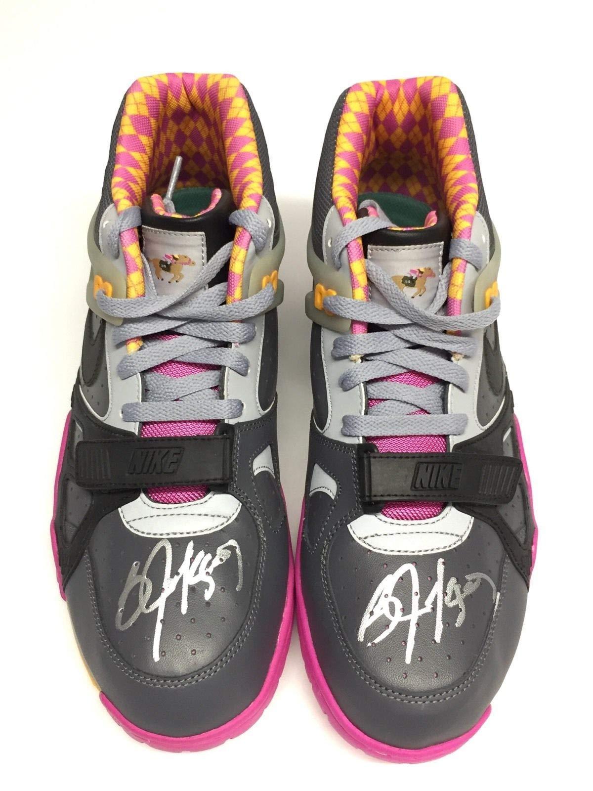 Bo Jackson Dual Autographed Signed Nike Air Trainer Iii Prm Qs Raiders Royals Shoes JSA Authentic Memorabilia