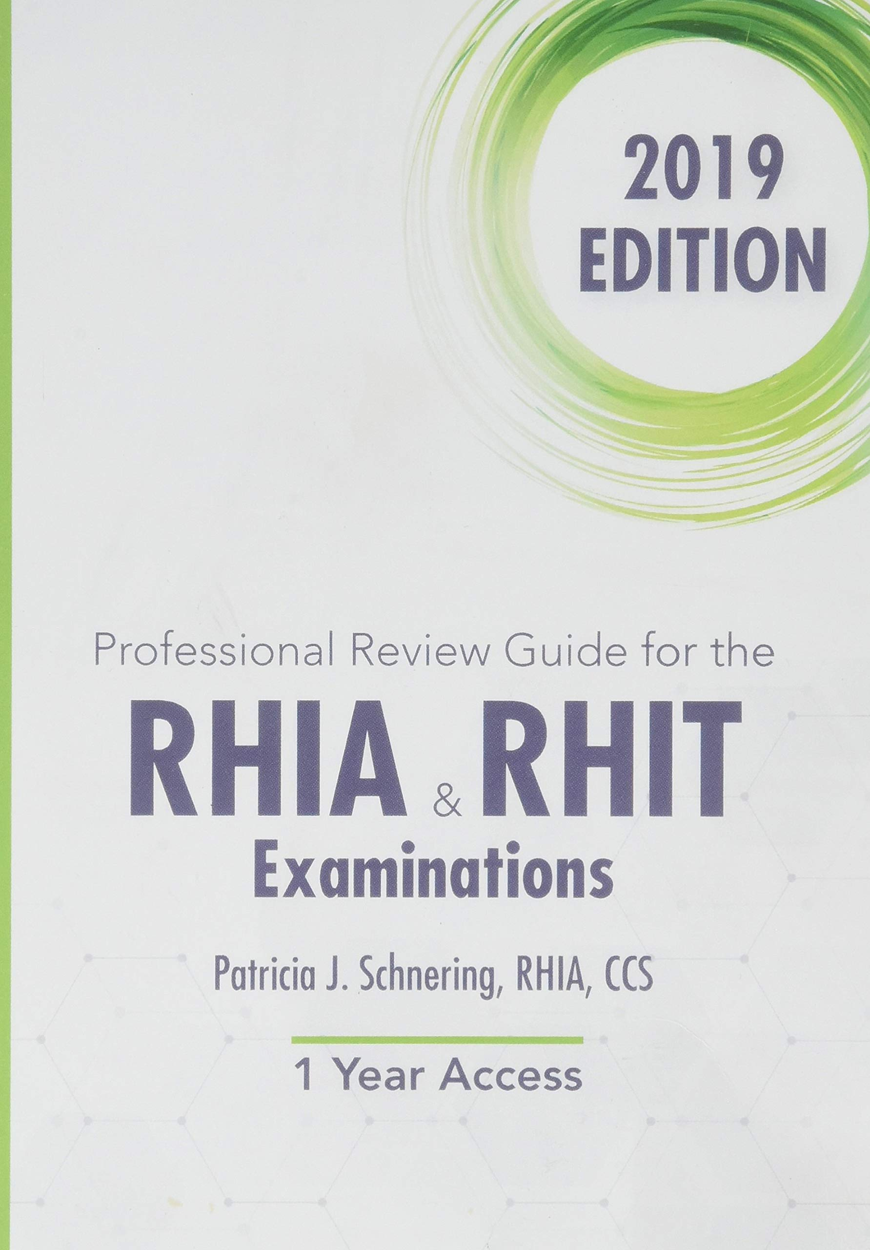 Professional Review Guide Online for the RHIA and RHIT Examinations, 2019, 2 terms Printed Access Card
