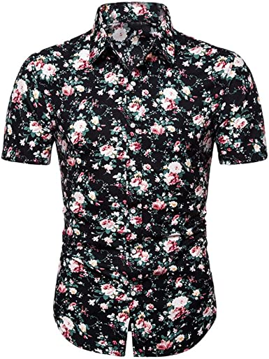 Camisas Formales para Hombre Camisas Hombre Manga Corta Camisa Hawaiana para Hombre Funny Hawaii Shirt Polos para Hombre Verano Camisa Hombre Slim fit Camisa Floral Vintage para Hombre: Amazon.es: Ropa y accesorios