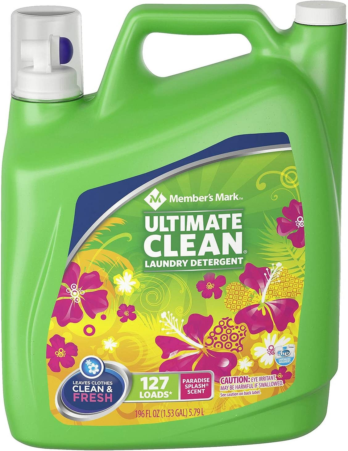 Member's Mark Ultimate Clean Laundry Detergent, Paradise Splash, 127 loads