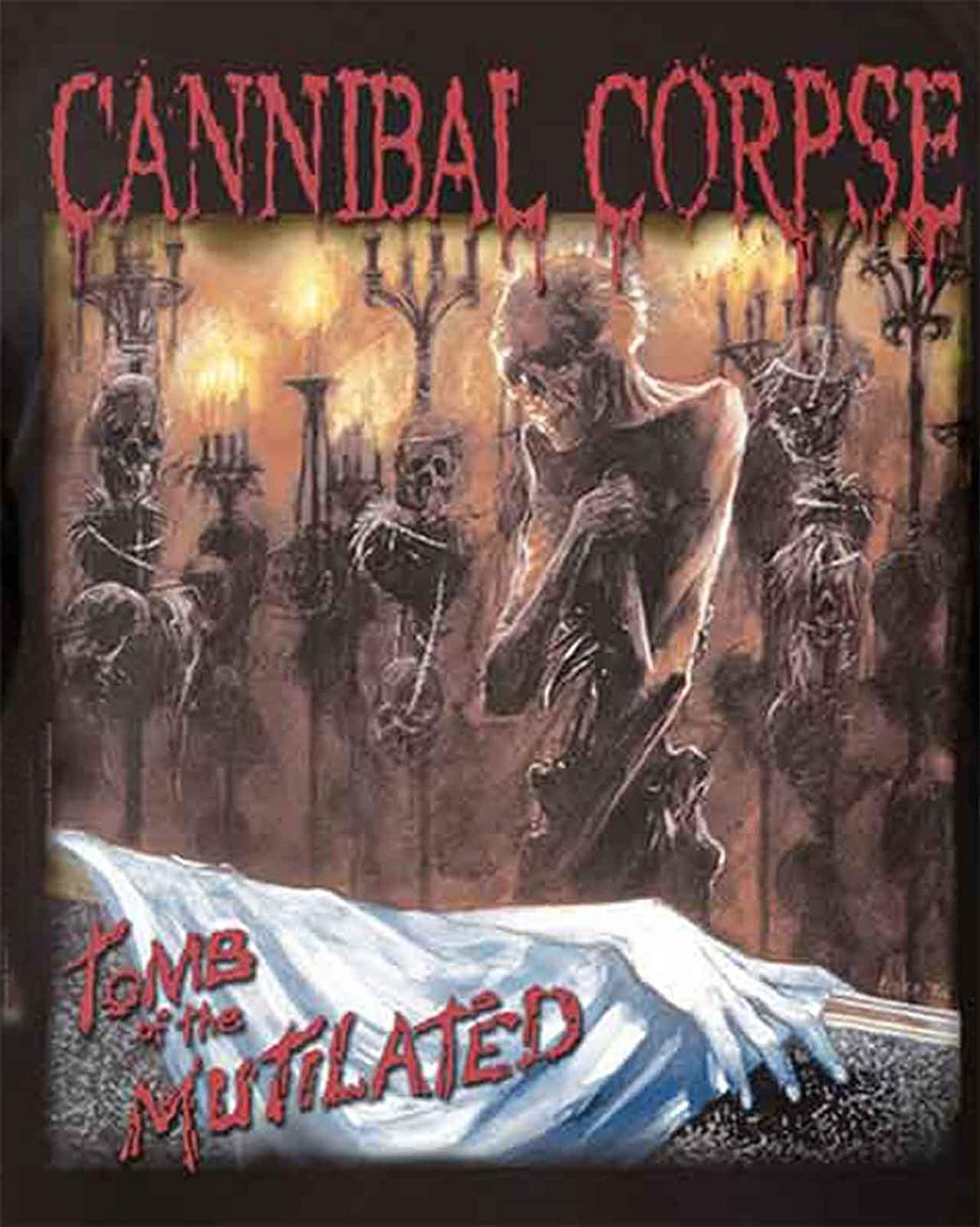 Cannibal Corpse T Shirt Tomb of The Mutilated Officiel Homme Noir Long Sleeve