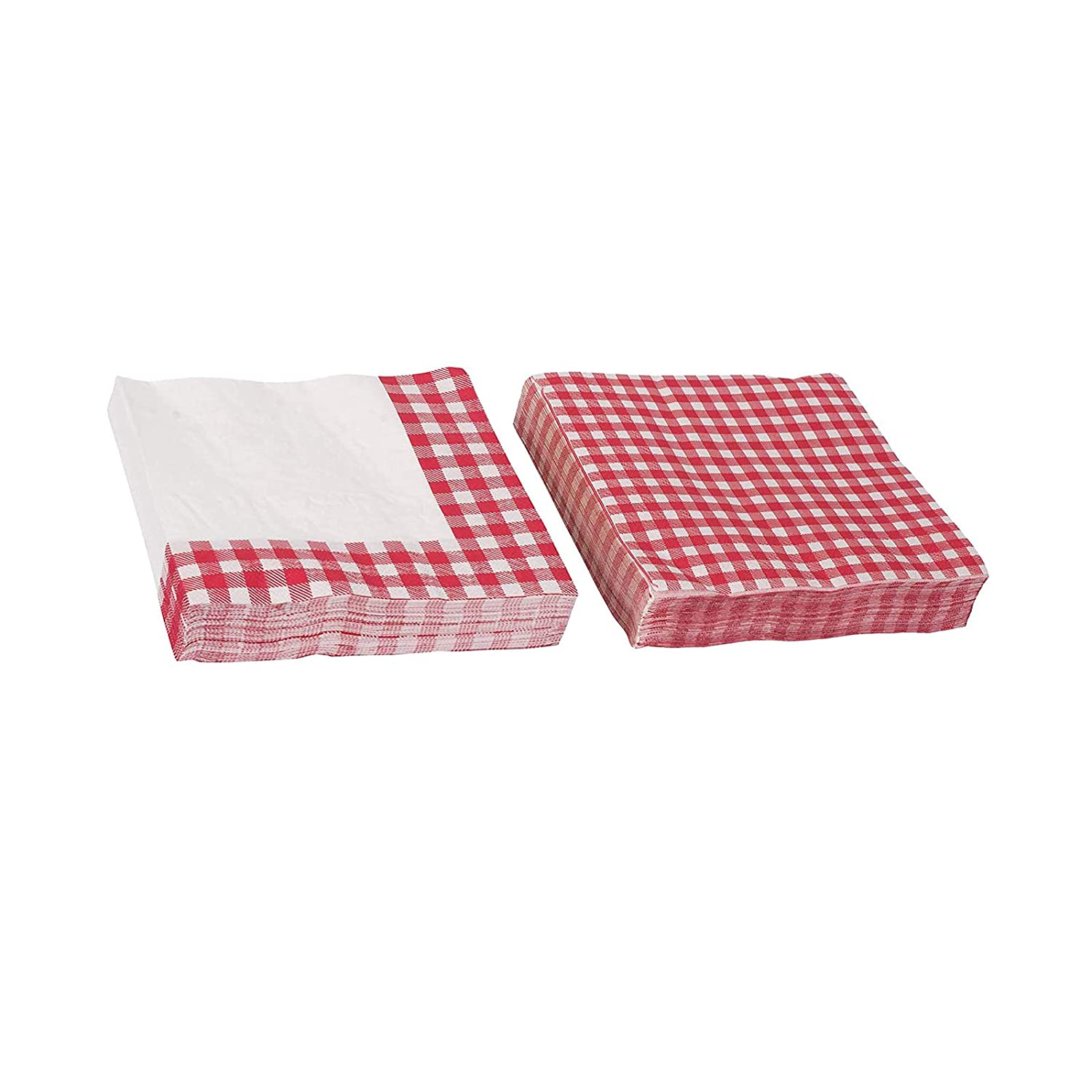 Picnic Themed Gingham Napkins Tableware - Perfect for Family Dinner, Birthday Parties and Picnic Party Supplies (80 Pack)