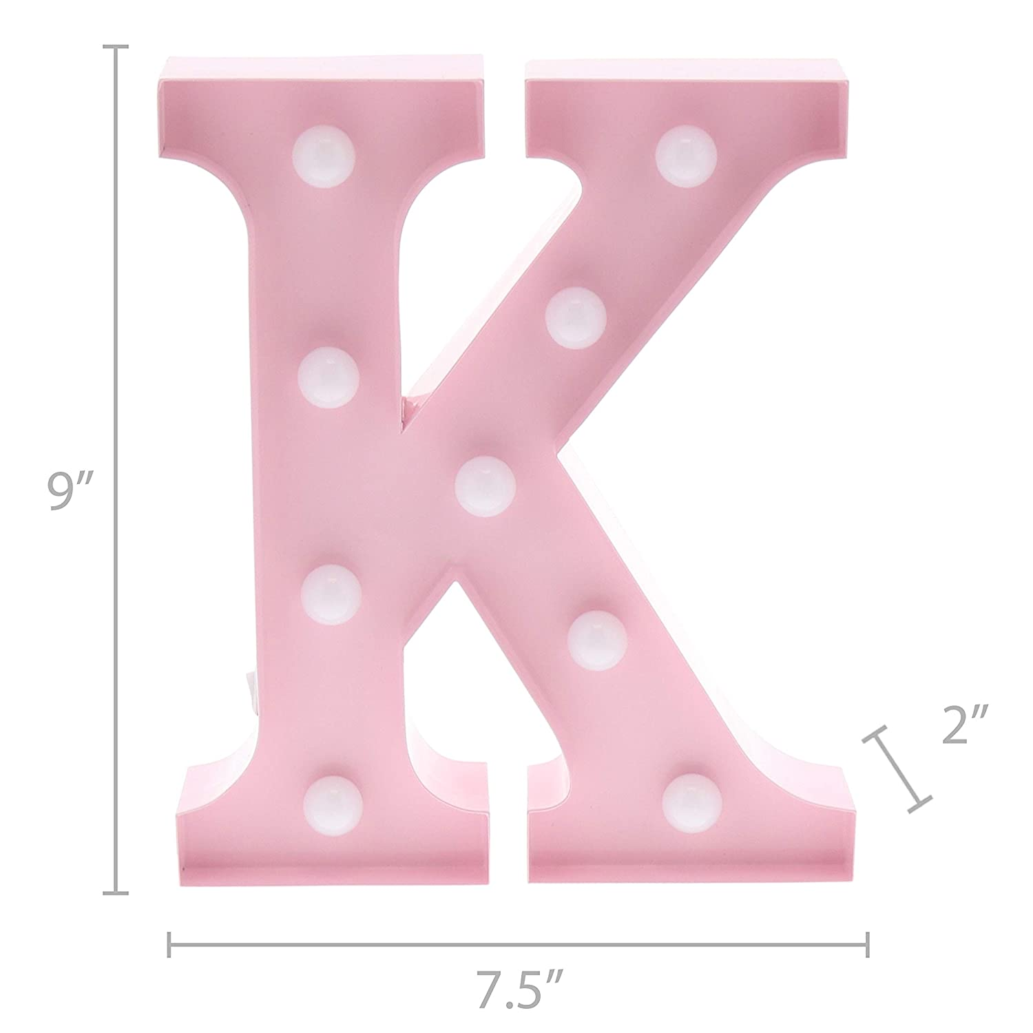 Amazon.com : Barnyard Designs Metal Marquee Letter K Light Up Wall ...