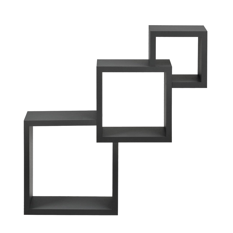 [en.casa] Scaffale murale moderno grigio scuro opaco in design retro