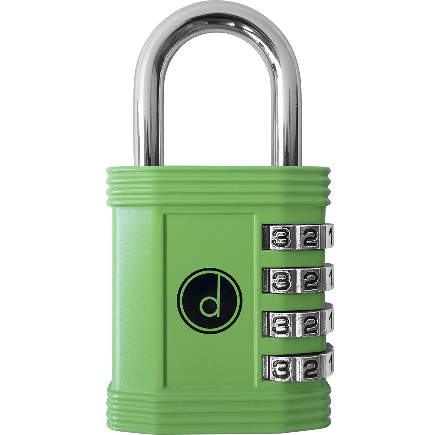 Padlock - 4 Digit Combination Lock for Gym, Sports, School & Employee Locker, Outdoor, Fence, Hasp and Storage - All Weather Metal & Steel - Easy to Set Your Own Keyless Resettable Combo