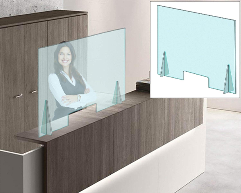 Mampara Protectora en Metacrilato de 4 mm con ventanilla Dim: 100x75cm. (entrega inmediata) ENVÍO GRATIS-: Amazon.es: Industria, empresas y ciencia