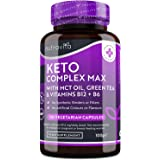 Keto Complex Max - Suministro para 2 mes (120 cápsulas) - Píldoras Dietéticas Keto para Hombres y Mujeres - MCT, té…