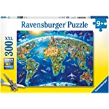 Ravensburger -World Landmarks Map - 300 pc Puzzle