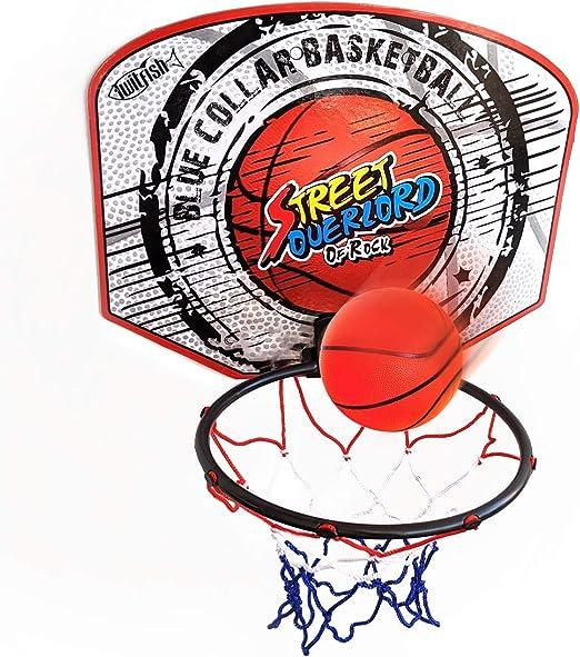 Twitfish® - Mini Canasta Interior de Baloncesto - Novedad Divertido Juego de Juguetes para el hogar de Escritorio de Office, Mini Board, Ball & Pump Set para Todos los Fanáticos del Baloncesto: