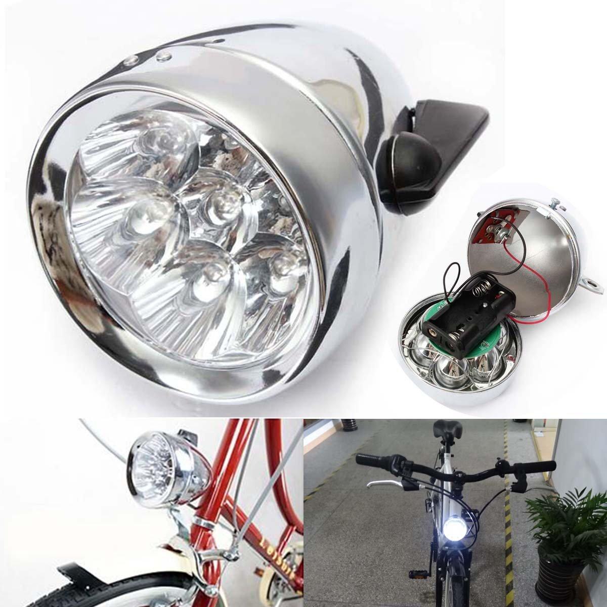 BlueSunshine Vintage Retro Bicycle Bike Front Light Lamp 7 LED Fixie Headlight with Bracket